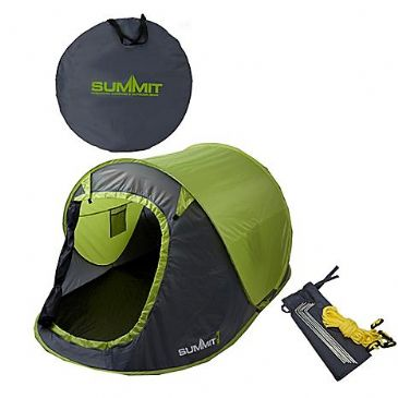 SUMMIT 2 Man Pop Up Outdoor Garden Festival Camping Beach Pitch Tent